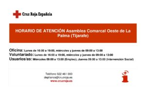 HORARIO DE ATENCION TIJARAFE-001