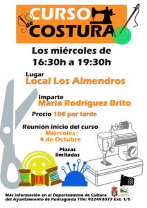 Cartel Costura