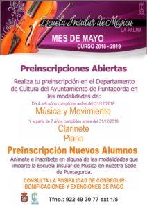 Preinscripción 2018-2019