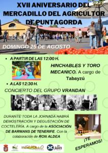 XVII ANIVERSARIO DEL MERCADILLO DEL AGRICULTOR DE PUNTAGORDA