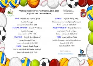 Cartel general (horarios, monitores, actividades, etc.)