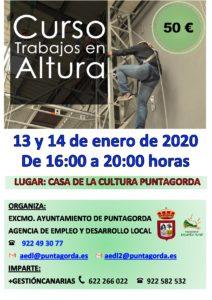 Cartel del curso Trabajos en Altura PUNTAGORDA ENERO 2020_page-0001
