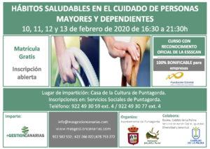 CARTEL HABITOS SALUDABLES EN CUIDADO A PERSONAS MAYORES PUNTAGORDA FEBRERO 2020